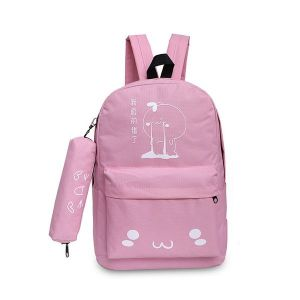 Canvas Baby Pink Backpack