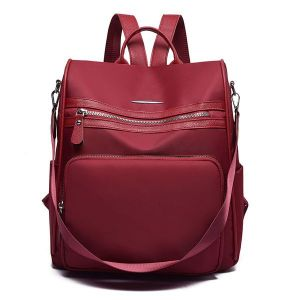 Scarlet Red Polyester Back Pack