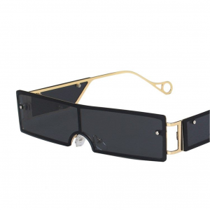 Black Rivet Personality Metal Retro Sunglasses
