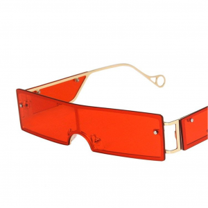 Red Rivet Personality Metal Retro Sunglasses