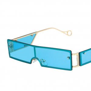 Blue Rivet Personality Metal Retro Sunglasses