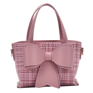 Pink Bow Handbag with Gold Chain