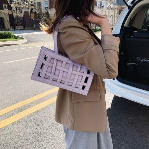 Niche Women's Spring Trendy One-shoulder Handbag - PURPLE