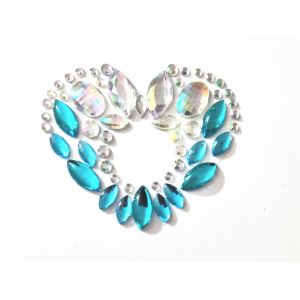 MGB Blue And Iridescent Belly Gems