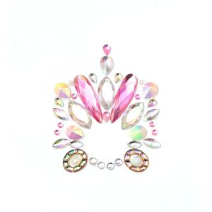 MGB Pink And Clear Belly Gems