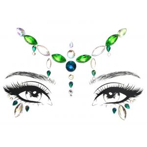MGB White And Green Face Jewels
