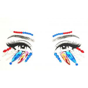 MGB Multi Coloured Face Jewels