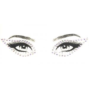 MGB White Diamante Eye Liner