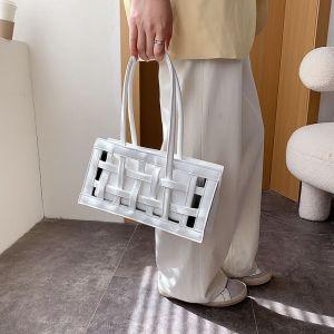 Niche Women's Spring Trendy One-shoulder Handbag - WHITE