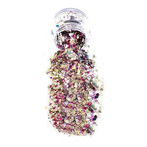 Silver Pink Big Glitter pot