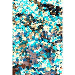Hexagon Aqua Silver Body glitter