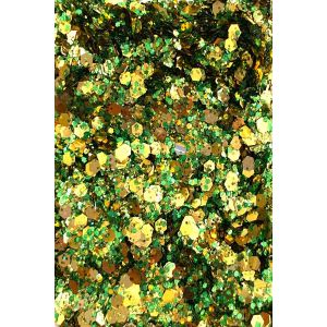 Mix Of Green Chunky Gold glitter