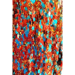 Chunky Aqua-Gold Crimpson Red Body glitter