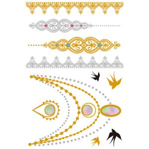 Gold Iridescent Metallic Tattoo