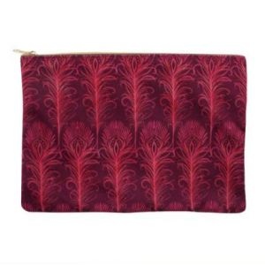 Luxury Pink Fabric Makeup Bag