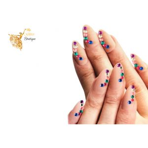 Multi Gems Nail stickers