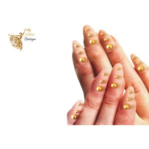 Gold Studs Nail gems