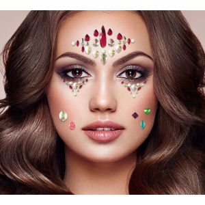 Assorted Face & Body Jewels and Nail Stickers Pack
