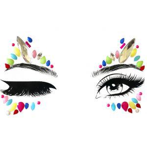 Winking Eyes Face Gems