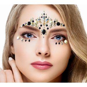 Black Iridescent Face Jewels