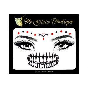 Skull Makeup Face Jewels