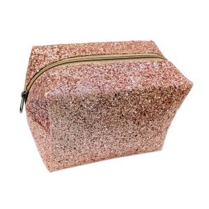 Gold Glitter Transparent Bag