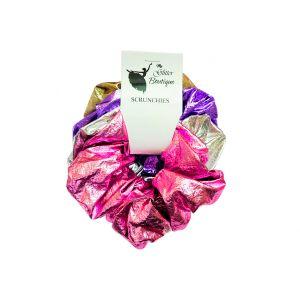 Metallic Color Hair Scrunchies