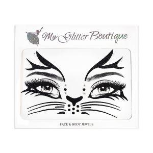 Cat Halloween Face Stickers