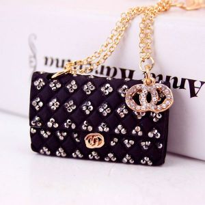 Black Creative Crystal Diamond Ladies Chain Bag Shape Key Chain