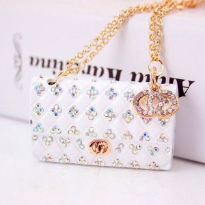 Creative Crystal Diamond Ladies Chain Bag Shape Key Chain