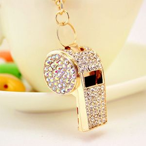Diamond-studded Whistle Keychain