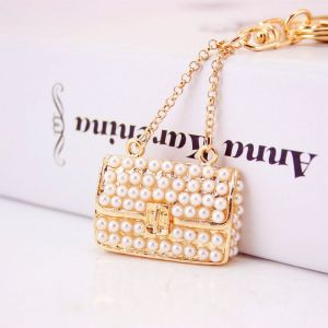 Pearl Handbag Key Chain