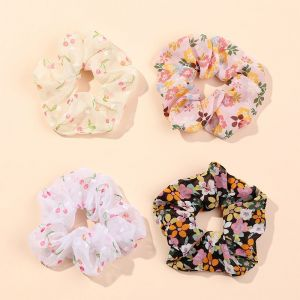 Cherry and Floral Hair Scrunchies