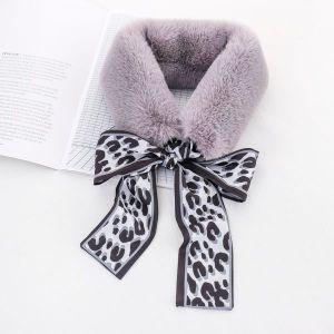 Rabbit Fur Collar Warm Scarf