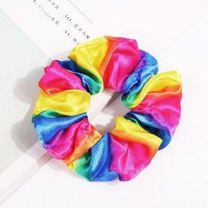 Rainbow Thick stripe Scrunchies