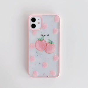 Apple 7-8 Plus Epoxy Peach Orange Phone Case