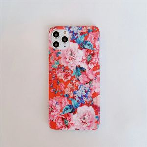 Red Floral iPhone 11 Silicone Case