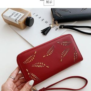 Red and Gold Long Wallet