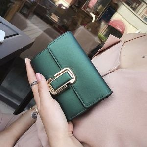 Emerald Green Coin Purse with Buckle