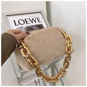 Thick Chain Plush Single Shoulder Bag