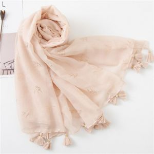 Solid ColoUr Cotton And Linen Scarf