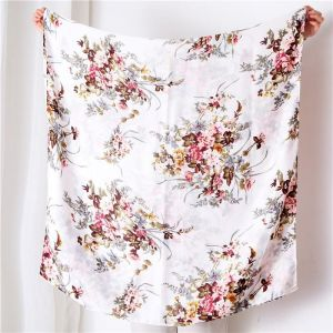 Silk Scarf Ladies Cotton And Linen 180*90