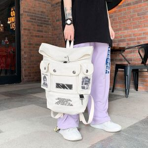 Hip-hop Multi-pocket Large-capacity Fashion Canvas Backpack