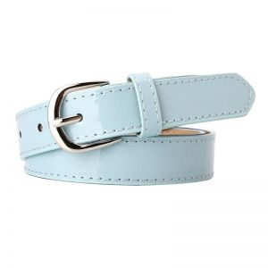 Patent Leather Wide Belt