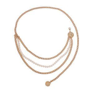Imitation Pearl Multi-layer Waist Chain