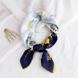 Scallop Flower Blue Fashion Scarf