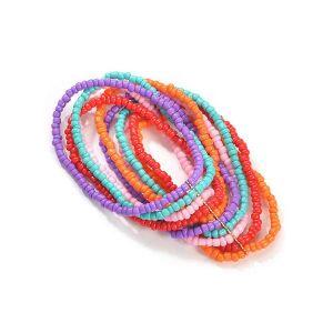 Fashion Beaded Multilayer 12 Color Bead Bracelet