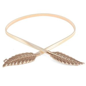 Golden Metal Leaf Belt