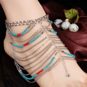 Turquoise Temperament Exaggerated Anklet