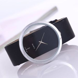 Simple Transparent Double-sided Hollow Watch Black